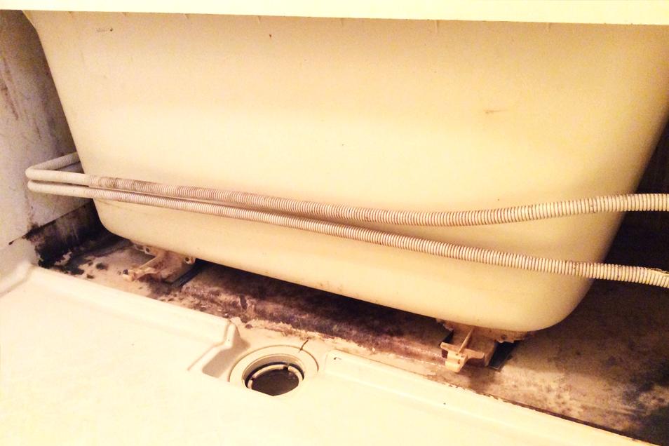 浴槽汚れ02before