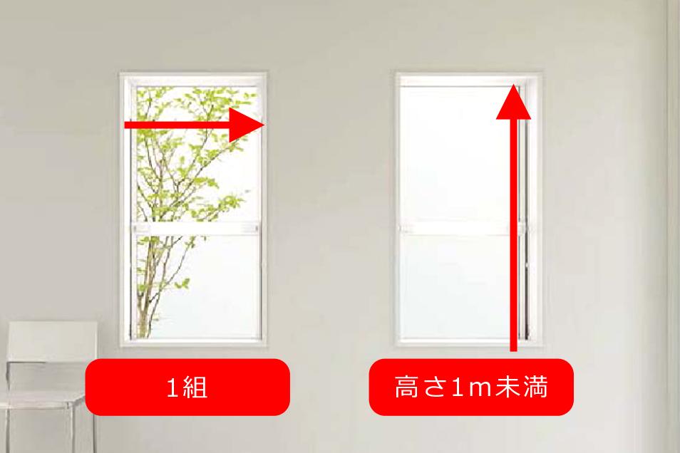 上げ下げ窓・内倒し窓 縦・横すべり窓・ルーバー窓採寸